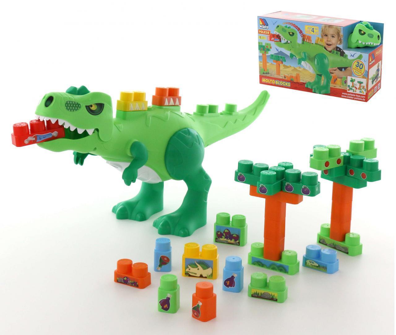 """Набір """"Динозавр"""" + конструктор (30 елементів) (в коробці)"""