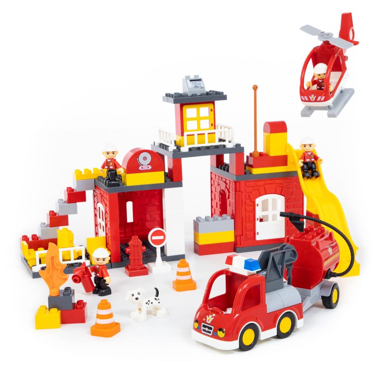 "Конструктор ""Максі"" - ""Пожежна станція"" (95 елементів) (в коробці)"