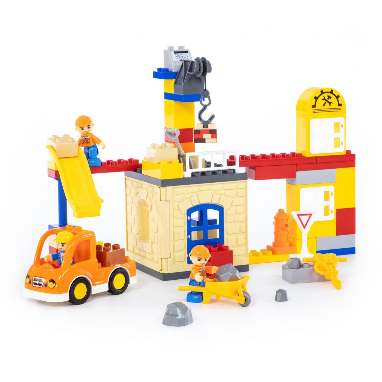 "Конструктор ""Максі"" - ""Будівельна фірма"" (66 елементів) (в коробці)"