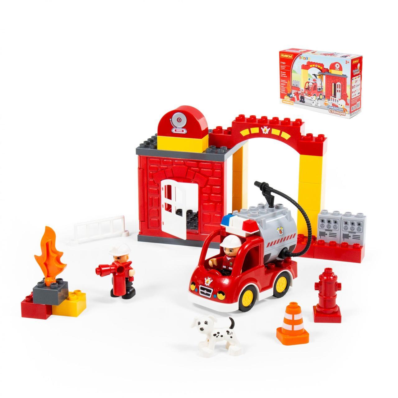 "Конструктор ""Максі"" - ""Пожежна станція"" ( 35 елементів) ( у коробці)"