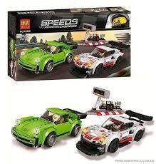 """Конструктор 10946 (36/2) Bela Speeds Champion """"Гоночні автомобілі"""", 409 деталей, в коробці"""