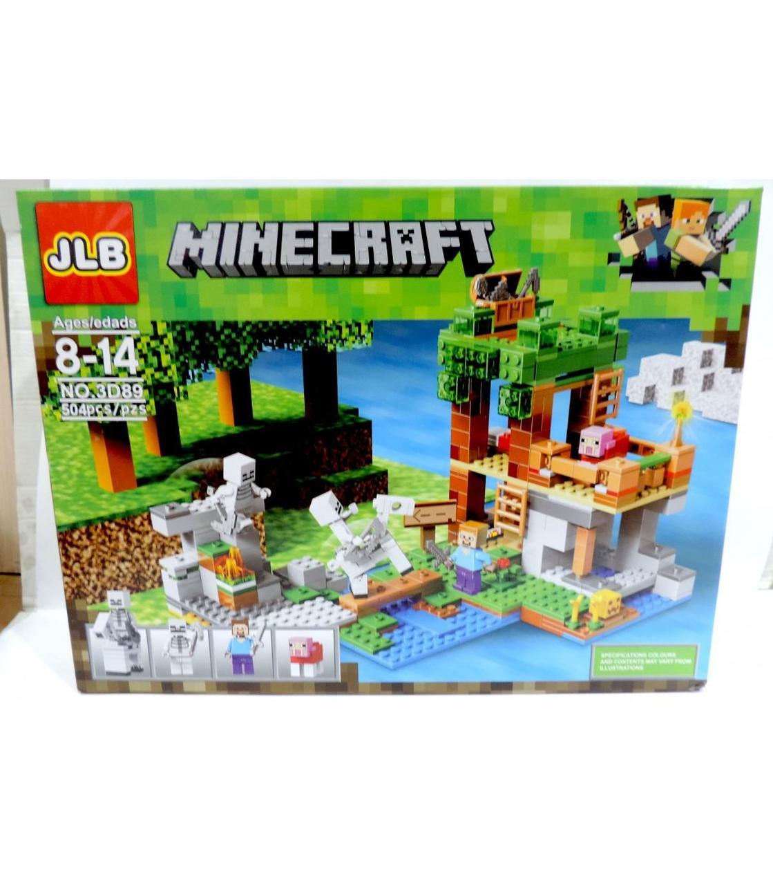 """Конструктор Майнкрафт JLB Minecraft """"Фортеця"""" 504 pcs 3D89 GA7-19"""