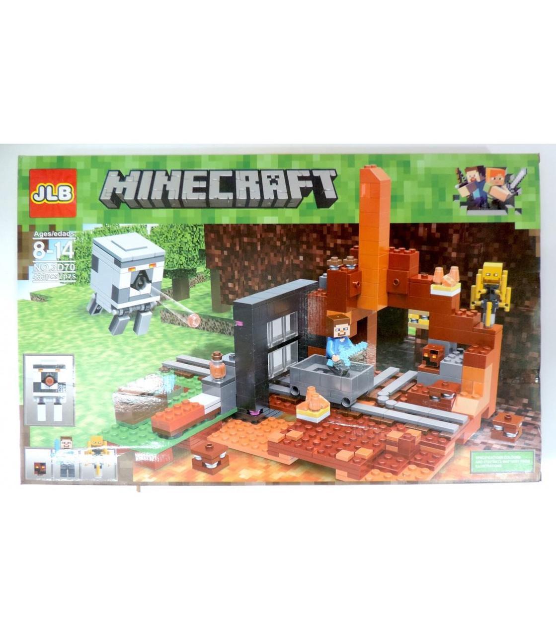 "Великий конструктор Майнкрафт JLB Minecraft ""Будівництво"" 433 pcs GA7-21"