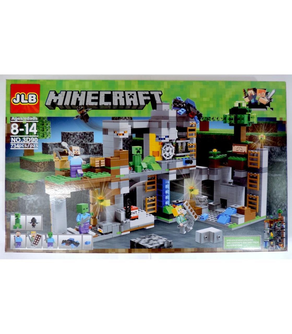 Великий конструктор Майнкрафт JLB Minecraft Набір 734 pcs GA7-20