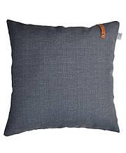 Подушка декоративная Stone с кожаным декором, 45х45 см