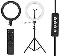 Кольцевая лампа LED AL-390 для визажиста и видеоБлогера с креплением для телефона диаметр 38см
