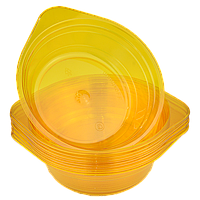 Миска стеклоподобная оранжевая 0,5л 10шт/уп (1ящ/40уп), фото 1