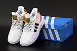 Женские кроссовки Adidas EQT в стиле Адидас Эквипмент БЕЛЫЕ РОЗОВЫЕ (Реплика ААА+), фото 4