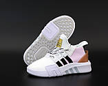 Женские кроссовки Adidas EQT в стиле Адидас Эквипмент БЕЛЫЕ РОЗОВЫЕ (Реплика ААА+), фото 6