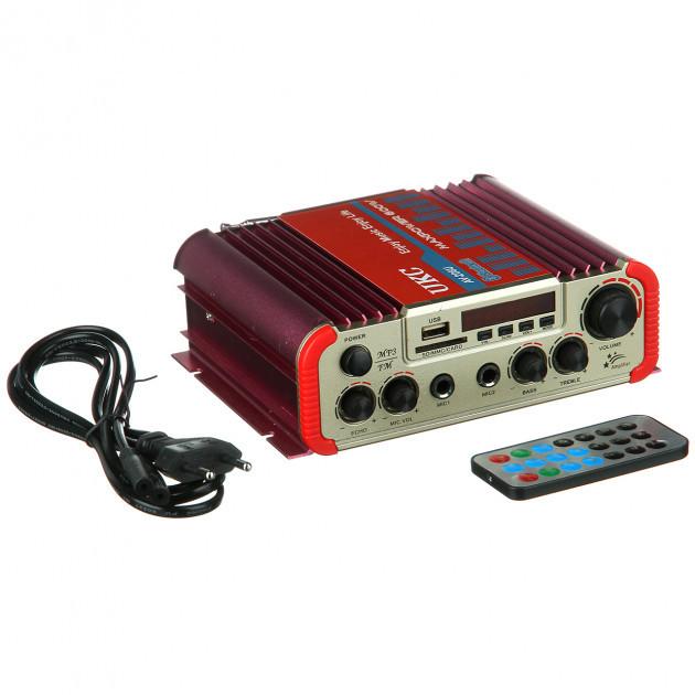 Підсилювач звуку UKC AMP AV 206 BT, для колонок, переносний