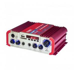 Підсилювач звуку UKC AMP AV 206 BT, для колонок, переносний, фото 2