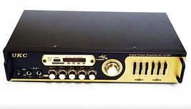 Підсилювач звуку UKC AMP-121 Bluetooth | Караоке на 2 мікрофона