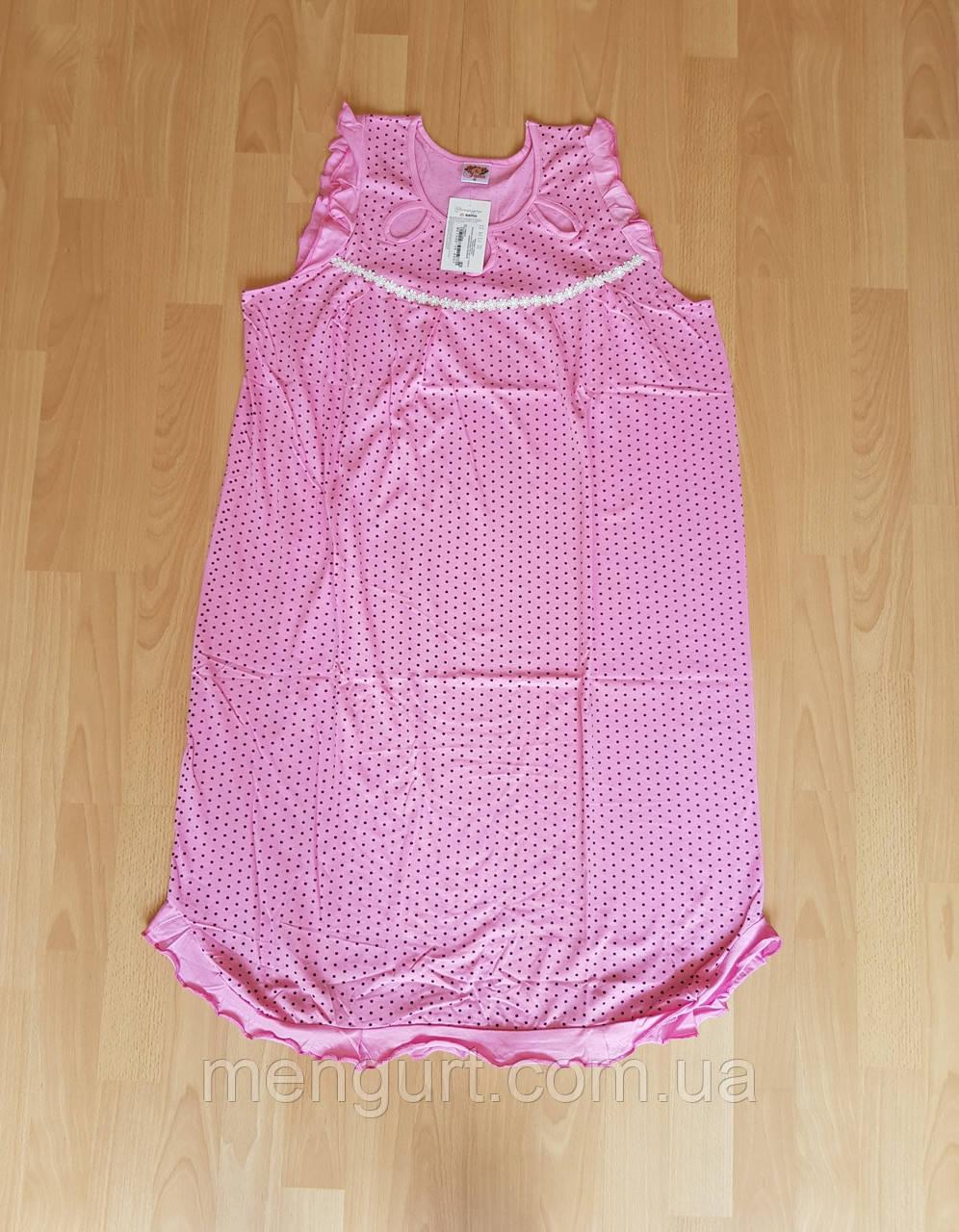 Женская ночная сорочка без рукава размер 48-56