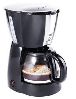 Кофеварка капельная ECG KP 129 black (900Вт, 1,2л)
