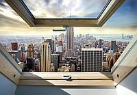 Фотообои виниловые 3D 416x254 см город Нью-Йорк: Манхэттен с окна (10415WVZXXXL)
