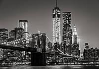 Фотообои флизелиновые 368x254 см Город Нью-Йорк: Ночной бруклинский мост 13032V8