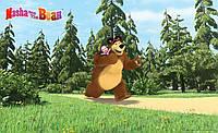 Фотообои 368x254 см Для девочек: Маша и медведь в лесу 13664P8