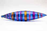 Большая елочная игрушка - сосулька, 48 см, пластик, синий (110278-4)