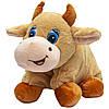 Мягкая игрушка - подушка бык, 40 см, бежевый, плюш (394769), фото 2