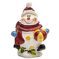 Фигурка сувенирная Снеговик с мячом в левой руке, 7 см (440504-3)