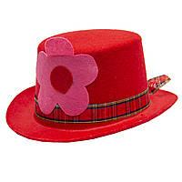 Шляпа карнавальная красная (460793)