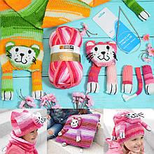 Набор для вязания Yonca Fancy Art шарф кошка + спицы в подарок