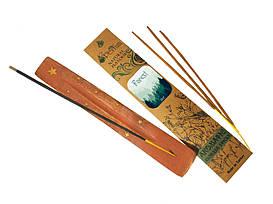 Набор: аромапалочки с ароматом леса + деревянная подставка под благовония