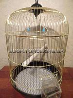 Золотая круглая клетка для птиц,54*34 см