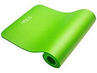 Коврик (мат) для йоги, фитнеса 4FIZJO NBR 1 см 4FJ0017 зеленый. Спортивный коврик гимнастический