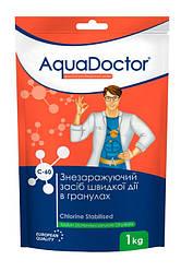 Дезинфектант на основе хлора быстрого действия хлор шок гранулы AquaDoctor C-60 (1 кг)