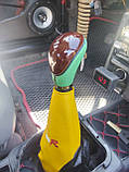 Ручка КПП вместе с чехлом, универсальная рукоятка рычага кпп с чехлом на рычаг переключения передач, фото 2