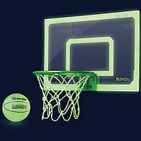 Мини-щит баскетбольный светящийся 45х30 см SKLZ Pro Mini Hoop® Midnight с кольцом, мячем и сеткой, фото 1