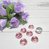 """Полубусины прозрачные, зеркальные """"Капелька"""", цвет розовый, 10 мм , 5 шт., фото 2"""