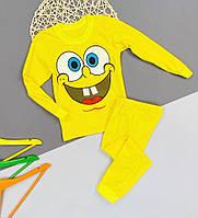 Пижама для дома и сна детская для детей желтая Губка Боб Спанч Боб Sponge Bob