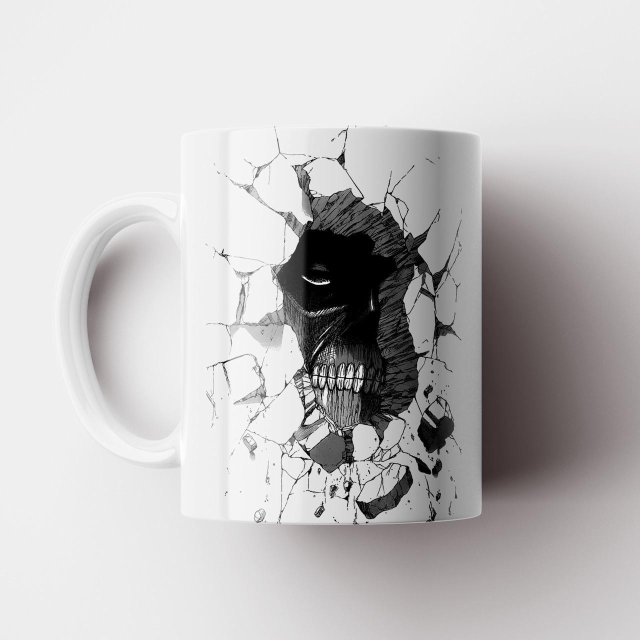 Кружка с принтом Атака Титанов. Attack on Titan v8. Чашка с фото