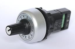Потенциометр 10 кОм / 10к однооборотный IP64 врезной диаметр 22мм для частотника отличная цена купить в Киеве