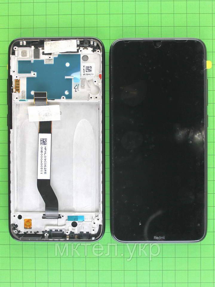 Дисплей Xiaomi Redmi Note 8 с сенсором, корпусом, черный Оригинал #5600050C3J00