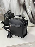 Сумка женская рюкзак|повседневная| кожзам | вместительная, цвет черный. Турция