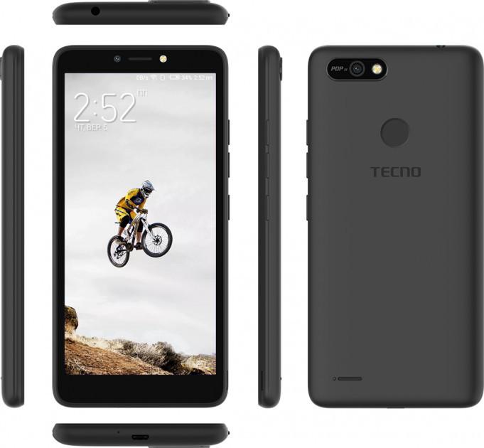 """Tecno POP2F (B1f) 1/16Gb Midnight Black 5.45"""" RAM: 1 Mb ROM:16Gb Quad-Core смартфон техно UA UCRF смартфон"""