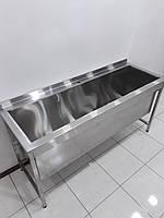 Ванна моечная, мойка односекционная с бортом из нержавеющей стали 1700х600х850, фото 1