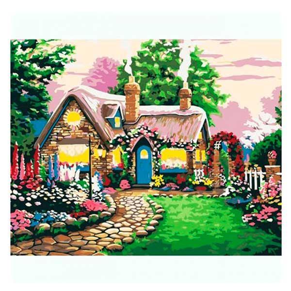 "Картина за номерами ""Пряничний будиночок"" E 016 40 - 50 см"