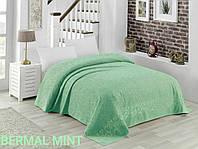 Простынь махровая жаккардовая Bermal Mint 150*220 Ментоловая TM Zeron