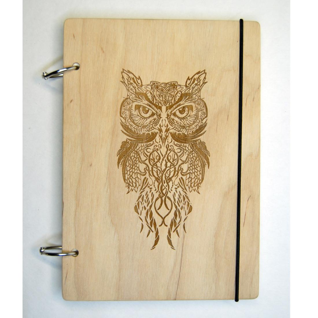 Деревянный блокнот XS(А6) с вашим лого. Скетбчук. Изготовление под заказ.