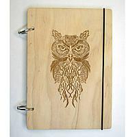 Деревянный блокнот XS(А6) с вашим лого. Скетбчук. Изготовление под заказ., фото 1