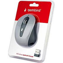 Беспроводная мышка Gembird MUSW-6B-01-BG серая, dpi:1600, USB, 2xAAА (MUSW-6B-01-BG), мышь для ноутбука, фото 3