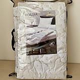 Легка ковдра полуторна 155*215 см   Ковдра літня, бавовна наповнювач. Стьобана ковдру ODA, фото 5
