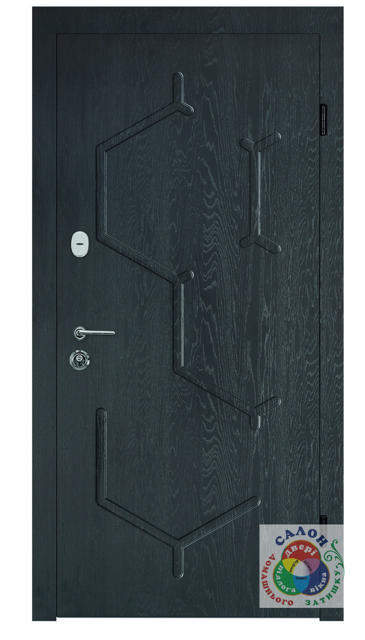 Дизайнерські вхідні двері в квартиру, Портала Спліт, серія Тріо