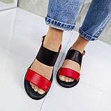 Красные босоножки из натуральной кожи, сандалии, фото 8
