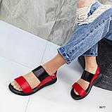 Красные босоножки из натуральной кожи, сандалии, фото 9