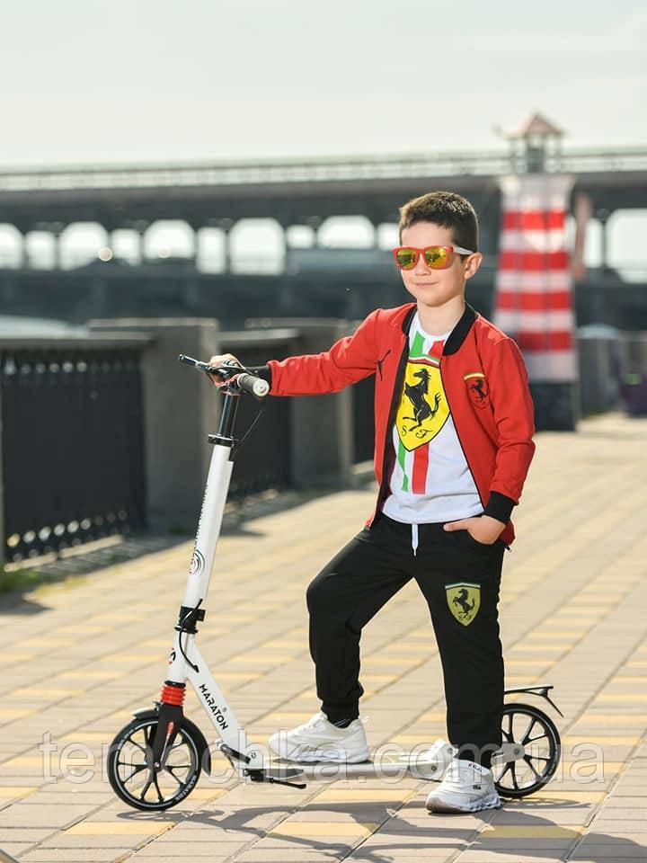 Спортивный костюм тройка для мальчика красный с черным Феррари Ferrari
